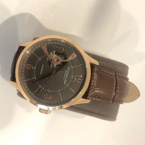 Stuhrling original automatic rose gold brown watch